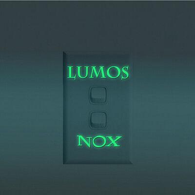 1 Pcs LUMOS & NOX Luminous Switch Wall Sticker Funny Abracadabra Home Decor SC