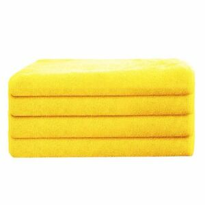 Automotive 288 orange microfiber towel new cleaning cloths bulk 16x16 manufacturers sale Mitts, Bonnets & Buffing Pads