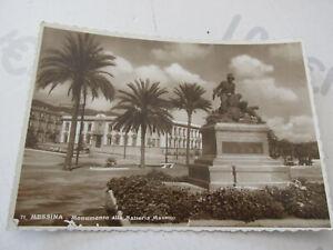 Carte Postale Période Monument de Messine Batterie Masetto Shipped 1942