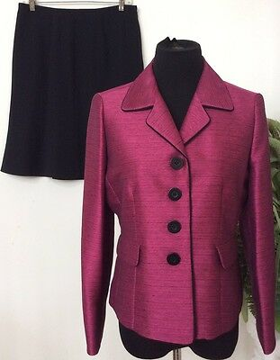 Women's Clothing Suits & Suit Separates Jones Studio Women's Career Pink Black Polyester Blend 2 Piece Skirt Suit Sz10p Outstanding Features