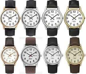 Timex-Classic-Gents-Watch-Easy-Reader-Indiglo-Leather-Strap