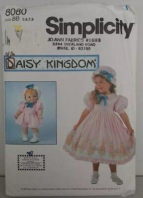 UNCUT Simplicity Pattern Girls Daisy Kingdom Dress 7635
