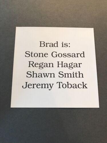 Brad Interiors RARE promo sticker 1997 RARE UNUSED PROMOTIONAL STICKER BRAD