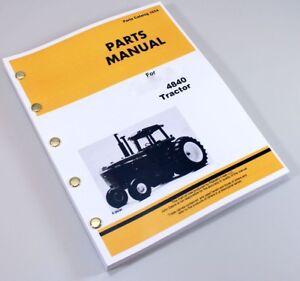 parts manual for john deere 4840 tractor loader catalog assembly ebay rh ebay com John Deere 4440 John Deere 4455