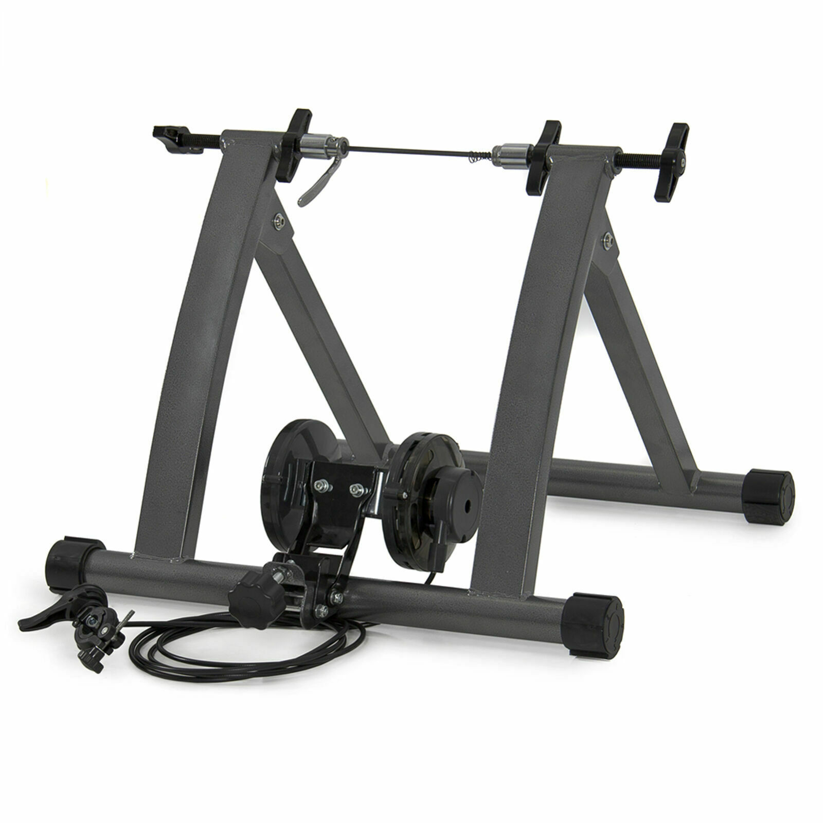 Folding Bicycle Bike Indoor Trainer Stand w 5 Magnetic Resistance Levels 26,27