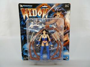 Black-Widow-7-034-Action-Figure-by-Rendition-Figures-1998-Mint-on-Card-MIP
