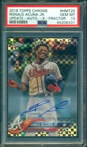 2018-Topps-Chrome-Update-Ronald-Acuna-Auto-RC-Rookie-Xfractor-125-PSA-10