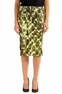 5eca8911a9 Just Cavalli Women's Multi-Color Stretch Pencil Skirt US 4 IT 40 | eBay