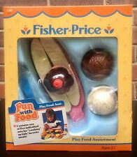 NIB 1989 Vintage Fisher Price Fun With Food Ice Cream Banana Split Set 2180 NEW