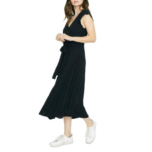 Sanctuary Womens Eden Gauze Cap Sleeves Midi Casual Dress BHFO 9357