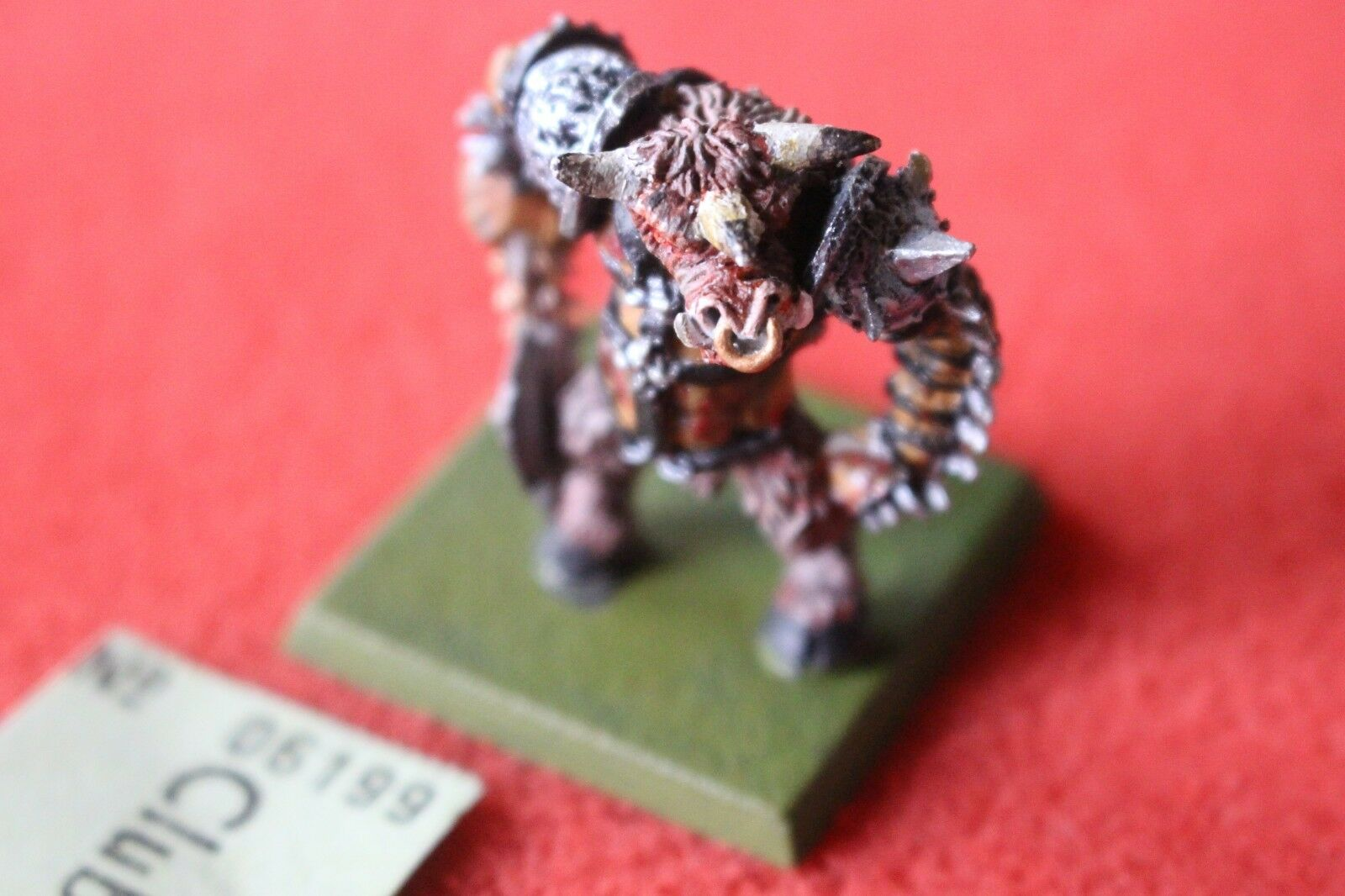 Games Workshop CITTADELLA C34 MINOTAURO SIGNORI Lord OX Roar Caos CHAMPION MACELLAZIONE