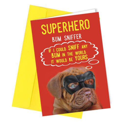 Carte d/'anniversaire du chien alternative mature drôle rude adulte blague papa maman #157
