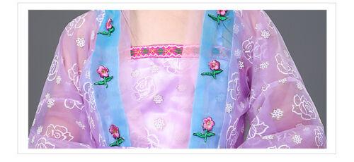 Childrens Girls Chinese Traditional Princess Fairy Hanfu Dress Costume 6-7Y MG