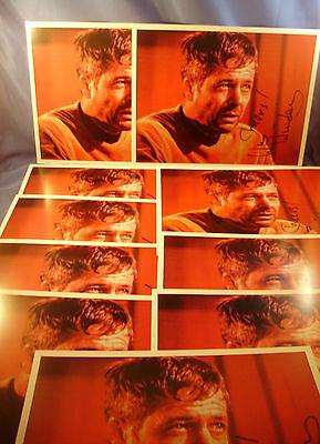 WILLIAM WINDOM COLLECTION STAR TREK DOOMSDAY MACHINE SIGNED Photos LOT OF 10 (8)