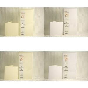 50-Blank-Cards-and-Envelopes-6-x-6-Wedding-Celebration-Quality-Textured-300-GSM