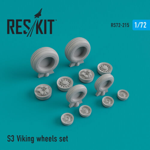 1//72 resin wheels ResKit 72-0215 S-3 Viking wheels set