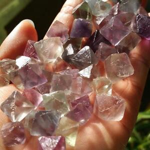 50g Fluorite Octahedron Healing Reiki Tumbled Rock Stone Gemstones Crystal New