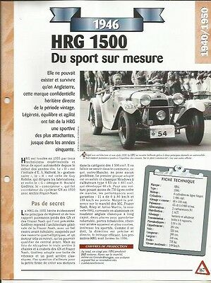 2019 Moda Voiture Hrg 1500 Fiche Technique Automobile 1946 Collection Car Vendendo Bene In Tutto Il Mondo