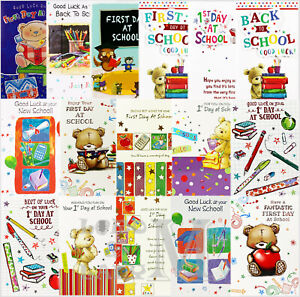 Awesome First 1St Day At School New School Back To School Cards Funny Birthday Cards Online Fluifree Goldxyz