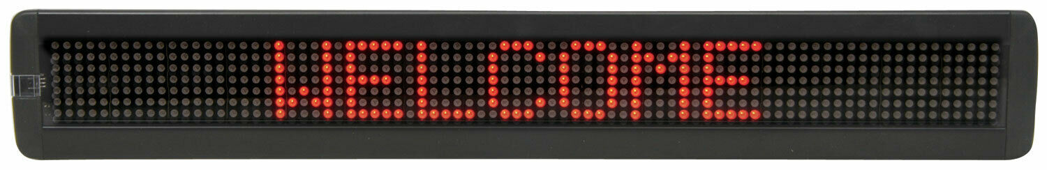 LED Moving Message Display - 7 x 120 RED LEDs 153.112UK 965MM x 98MM x 35MM