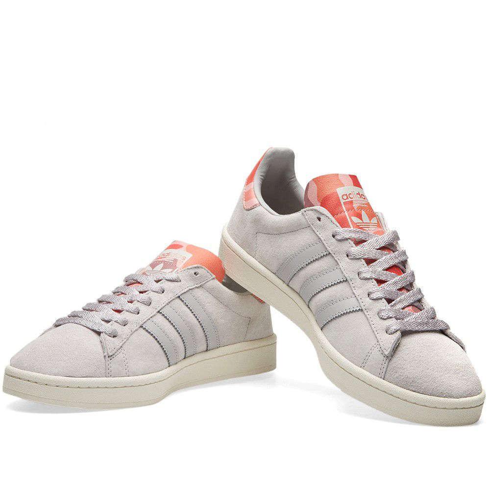 Zapatos De Cuero Adidas Originals Para Hombres Gamuza Entrenadores de campus-BB0078-gris