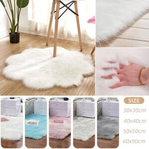 76-Fluffy-Rug-Anti-Skid-Shaggy-Area-Flower-ShapedCarpet-Floor-Mat-Home-Bedroom
