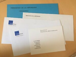 France-Lot-Enveloppes-Carte-President-Republique-Francois-Mitterrand