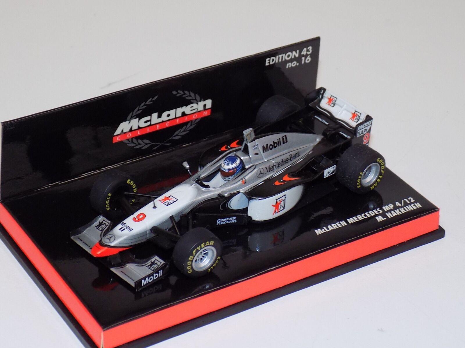 Los mejores precios y los estilos más frescos. 1 43 43 43 Minichamps F1 máquina de Fórmula 1 McLaren Mercedes 1997 pistolas 4-12 West M. obligaba  precios mas bajos