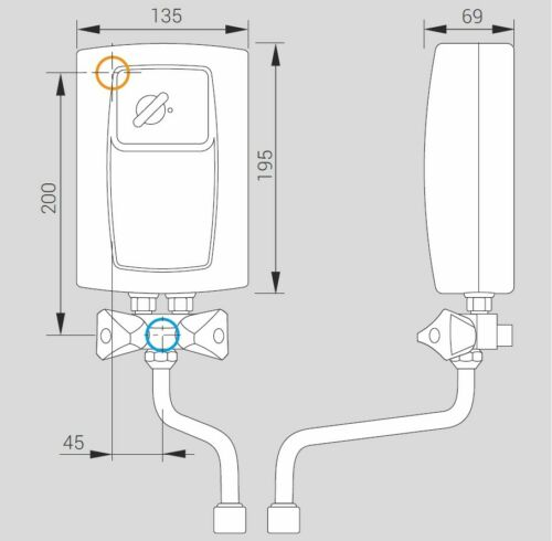 Kleindurchlauferhitzer Kospel EPS2 Twister 5,5 kW Neues Modell