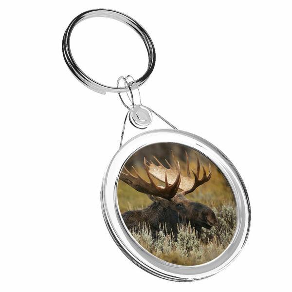 1 Moose Di Erba X Campo Animale-portachiavi Ir02 Mamma Papa 'regalo Di Compleanno #16663