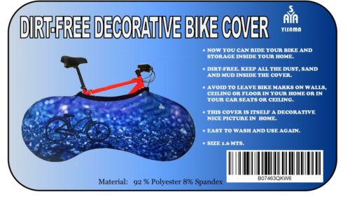 YISAMA Bicycle Indoor Storage Cover,Bike Cover to Keep Clean Car and House