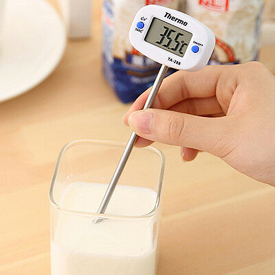 Instant Digital LCD Food BBQ Meat Chocolate Oven Cooking Probe Thermometer