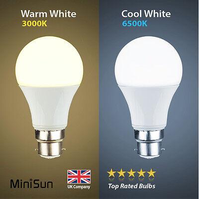 MiniSun LED 6W 10W (60W/100W) BC B22 ES E27 GLS Lamp Light Bulbs Warm Cool White