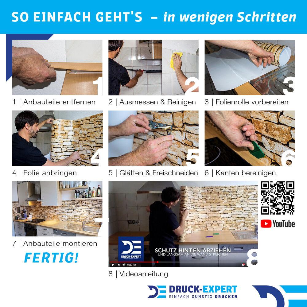 Cuisine Mur clairière Arrière clairière Mur Premium PVC dur 0,4 mm auto-adhésif 5de8b7