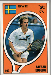 Stefan-Edberg-Sweden-Tennis-Supersport-1988-Edizioni-Panini-MINT-n-193