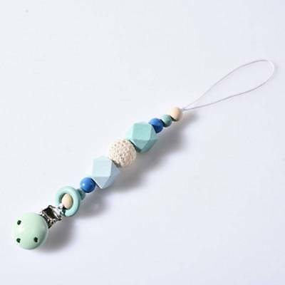 Baby Dummy Clip Holder Pacifier Clip Strap Teething Beads Soother Chain AS