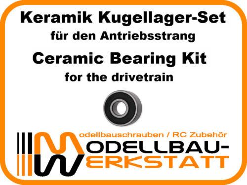 KERAMIK Tuning Kugellager-Set Kyosho Ultima RB6.6 RB6 RT6 SC6 ceramic bearing