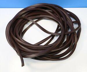 "Clock Glass Rubber Gasket Retainer Strip 15 Feet Brown Curio 1/4"" Wall"