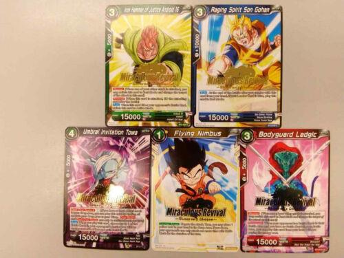 Dragon Ball Super Card Game Miraculous Revival Shenron/'s Chosen Promo Cards
