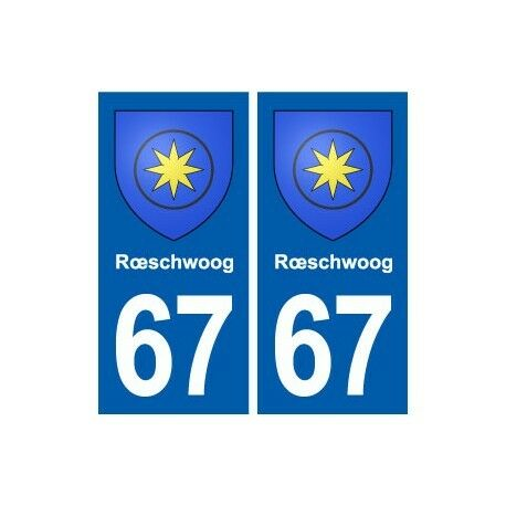 67 Rœschwoog blason autocollant plaque stickers ville droits