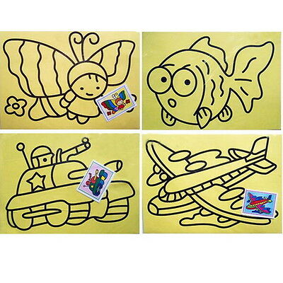 10Pcs Sheets Sand Painting Pictures  Children DIY Education Intelligence Toy S