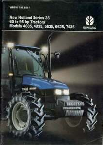 New Holland Série 35 tracteur Capot Autocollant Decal Set-afficher le titre d`origine