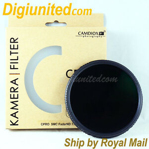 UK-Camdiox-82mm-C-Pro-MC-Variable-Fader-ND-ND4-ND8-ND400-ND1000-filter-for-DSLR