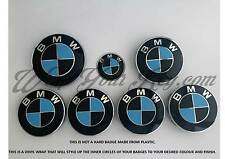 BLACK & LIGHT BLUE CARBON BMW Badge Emblem Overlay HOOD TRUNK RIMS FITS ALL BMW