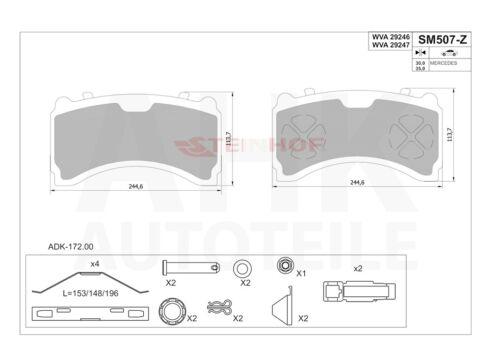 ab 2010 Bremsklötze Für Mercedes Actros MP4 front
