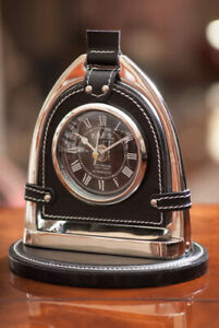 Equestrian Stirrup Desk Clock