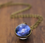 Solar-System-Pendants-Necklace-Galaxy-Planet-Necklace-S-Double-Sided-Glass-Dome thumbnail 1