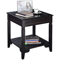 Us Cappuccino Wooden Sofa End Table Side Table Furnituretea Book Shelf Decor