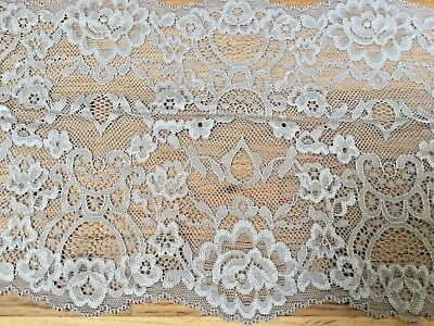 """*New* 7/""""//18cm Stunning Bright White Stretch Galloon Lace Trim Sewing//Lingerie"""