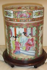 Unusual Antique Chinese Famille Rose Tobacco Jar Humidor Qianlong